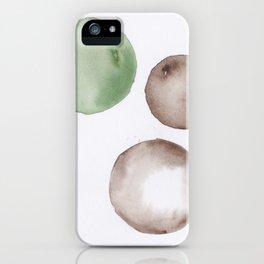 5|181104 Australian Leaf Green & Brown Earth Orbs | Watercolour Circle Abstract Geometrical iPhone Case