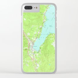 Vintage Map of Lake George New York (1966) 2 Clear iPhone Case