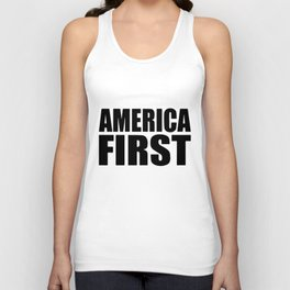 America First Donald Trump Political Tee Republican USA Democrat Tee Trump Unisex Tank Top
