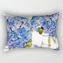 Hydrangea painting Rectangular Pillow