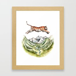 Tiger Leaping Gorge Framed Art Print
