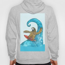 surfing sloth in the spring Hoody