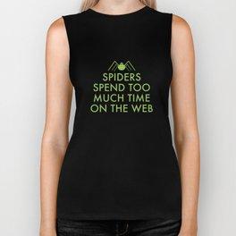 Time On The Web Biker Tank