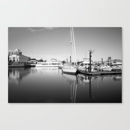 In the Harbor Canvas Print