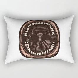 Big Mouth (transparent) Rectangular Pillow