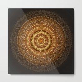 Mandala. Indian decorative pattern. Metal Print