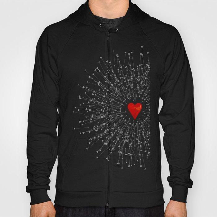 Heart&Arrows_BLACK Hoody