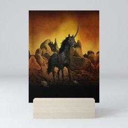 The Dark Unicorn Mini Art Print