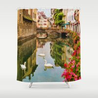 france Shower Curtains featuring Annecy France by Jean-Pierre Ducondi