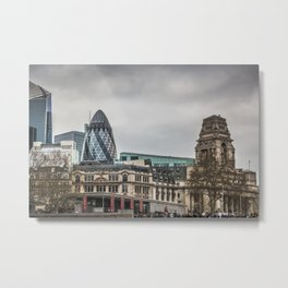 The Gherkin and Port of London Authority Building London Skyline Metal Print