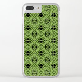 Greenery Star Geometric Clear iPhone Case