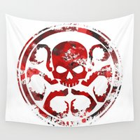hydra Wall Tapestries featuring HYDRA by Trey Crim