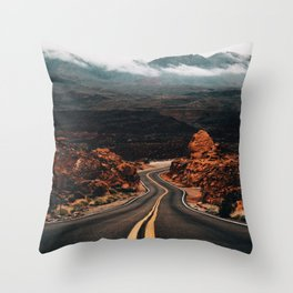 Road to Valley of Fire Throw Pillow