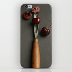 Cherries and Vintage Chisel iPhone & iPod Skin