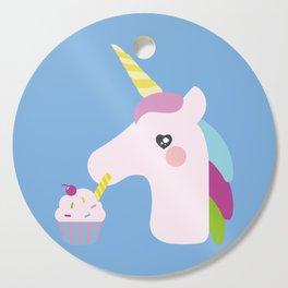 Unicorn Cupcake Cutting Board