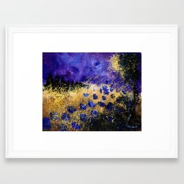 Blue poppies  Framed Art Print