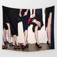 shoes Wall Tapestries featuring Shoes by Aldo Couture