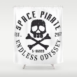 Space Pirate – Endless Odyssey Shower Curtain