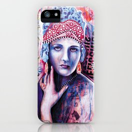 Reine de glace iPhone Case