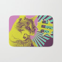 OMG cat Bath Mat