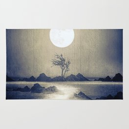 When the moon speaks (part III) colour option Rug