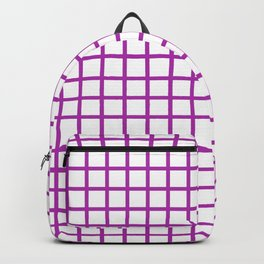 Grid (Purple & White Pattern) Backpack