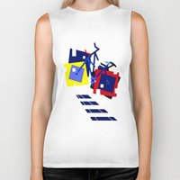 bicycles Biker Tanks featuring Abstract geometrical bicycles. by capricorn