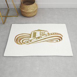 Colombian Sombrero Vueltiao in Gold Leaf Rug