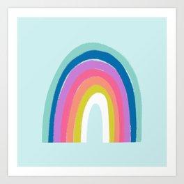 Rainbows on Light Blue Art Print