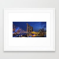 singapore Framed Art Prints featuring Singapore by J. S. Wolf Photography