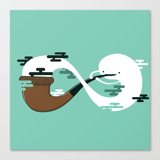 Infinite Pipe Canvas Print