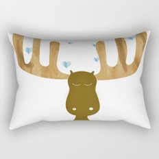 Sleeping Moose Rectangular Pillow