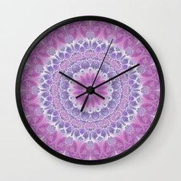 Purple and Pink Mandala Wall Clock