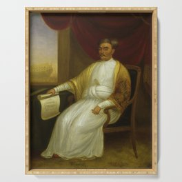 The Sultan vintage portrait art Serving Tray