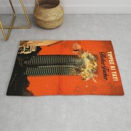 Die Hard travel movie art Rug
