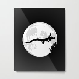 Falkor Moon Black Metal Print
