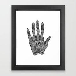 the Creating Hand Framed Art Print