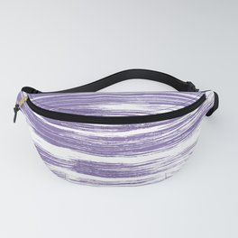 Modern abstract lilac lavender white watercolor brushstrokes Fanny Pack