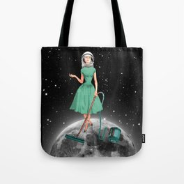 Housewife on the moon Tote Bag