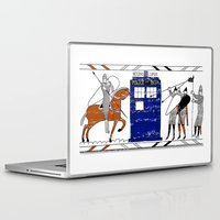 bad wolf Laptop & iPad Skins featuring Nocens Lupus (Bad Wolf) by Fiona Reeves