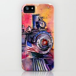 American Train by Kathy Morton Stanion iPhone Case