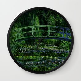The Water Lily Pond Deep & Dark Wall Clock