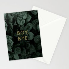 Boy, Bye - Vertical Stationery Cards
