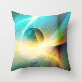 Abstract Space Sphere and Flow Throw Pillow