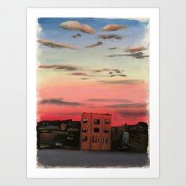 Sunset Studio View Art Print