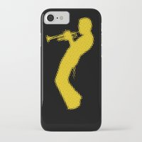 miles davis iPhone & iPod Cases featuring Davis Halftones by giancio