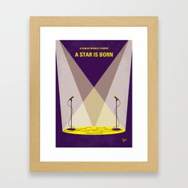 No1006 My A Star is Born minimal movie poster Framed Art Print