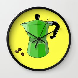 Green Rainbow Espresso Wall Clock