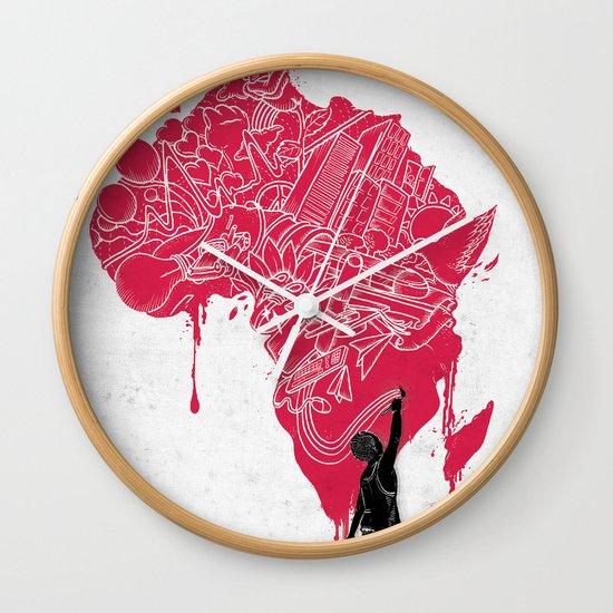 RE   Draw AFRIKA Wall Clock