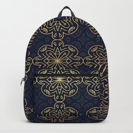 Bohemian Collection (Gold & Blue) Backpack